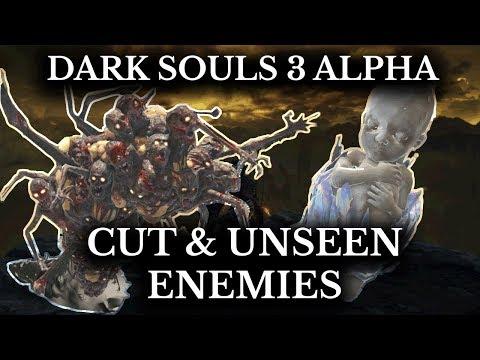 Dark Souls 3 Cut Content - Unseen Alpha Enemies - Baby Ocelotte - Hollow Filled Slugs