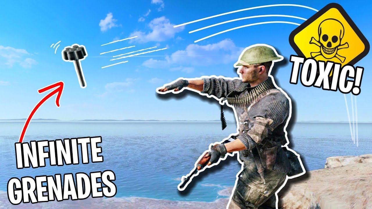 Playing Battlefield 5 BUT I'm SUPER TOXIC! (infinite grenade spam glitch) thumbnail