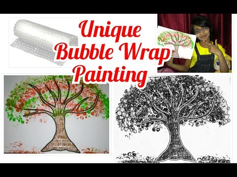 Bubble Wrap Painting Technique for Kids   Easy Coloring Trees Creative Fun Art Projects