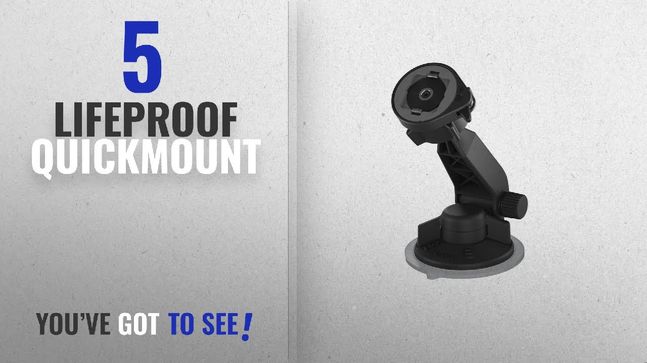 brand new 0d106 797e6 Top 5 Lifeproof Quickmount [2018 Best Sellers]: Lifeproof LifeActiv Suction  Mount with Quickmount -