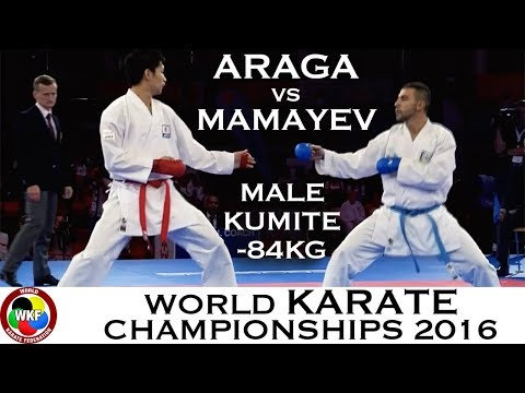 FINAL. Male Kumite -84kg. ARAGA (JPN) Vs MAMAYEV (AZE). 2016 World Karate Championships