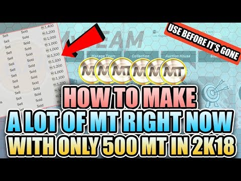 How to Make MT RIGHT NOW with only 500 MT in NBA 2K18 MyTeam