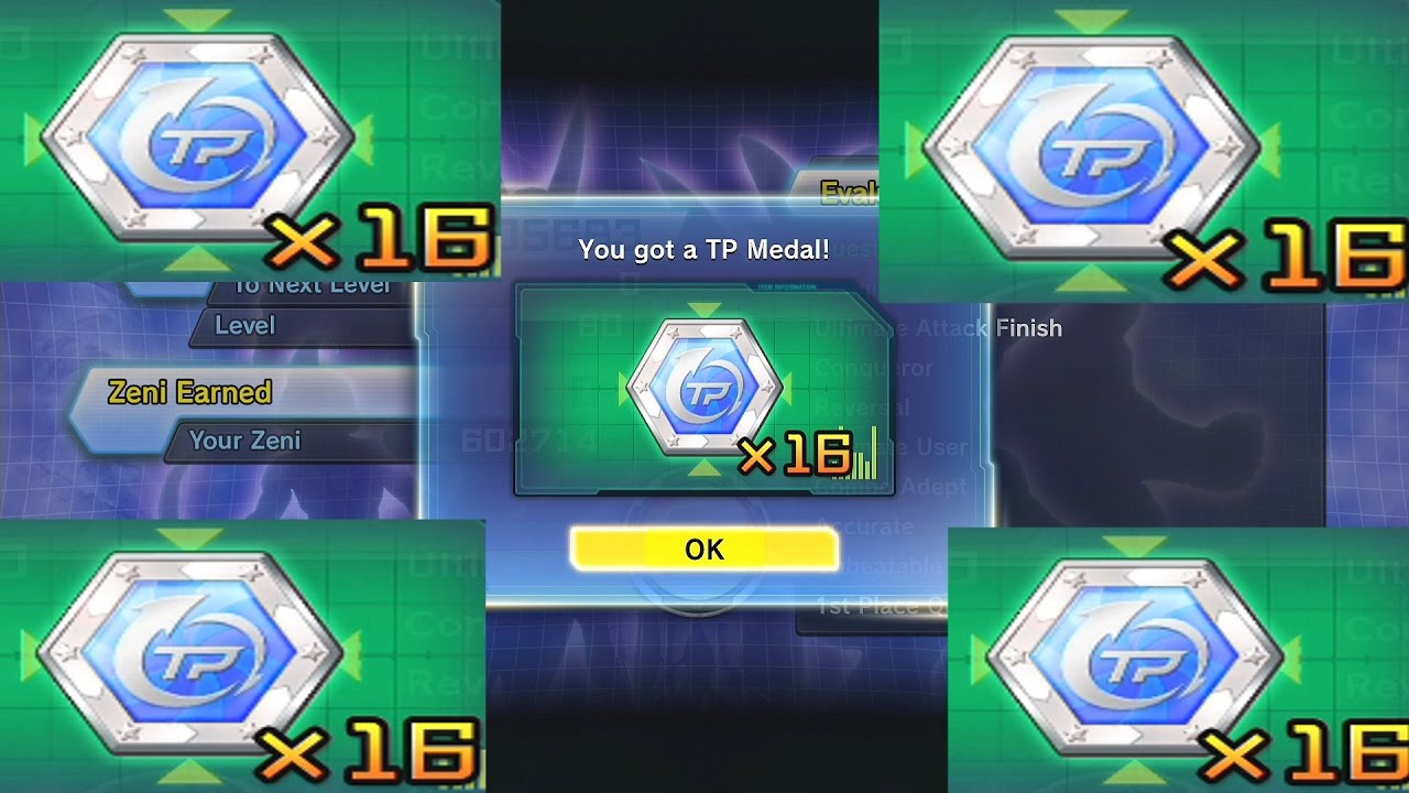 Dragon Ball Xenoverse 2 How To Get TP Medals FAST Quick Medal