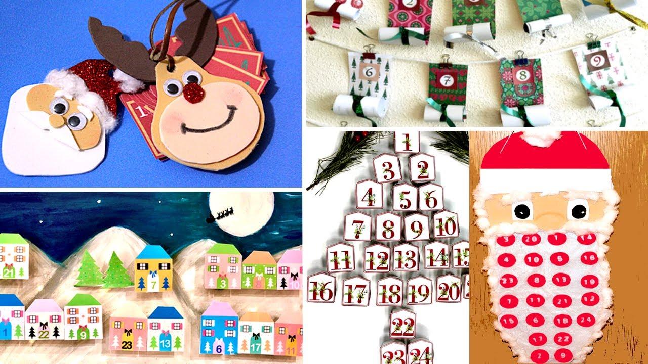 5 MANUALIDADES NAVIDEÑAS 2020/Christmas Decor. Calendario de Adviento con luz