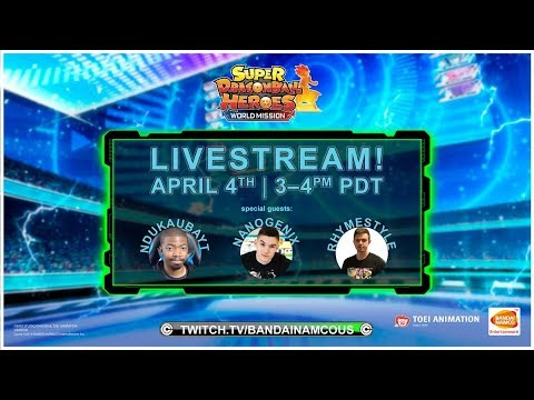 SUPER DRAGON BALL HEROES WORLD MISSION - Launch Livestream | Switch, PC
