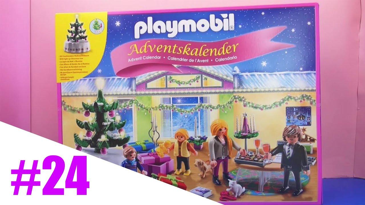 playmobil adventskalender weihnachtsabend mit beleuchtetem baum unboxing vierundzwanzigstes. Black Bedroom Furniture Sets. Home Design Ideas