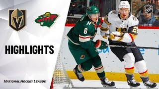 NHL Highlights | Golden Knights @ Wild 02/11/20