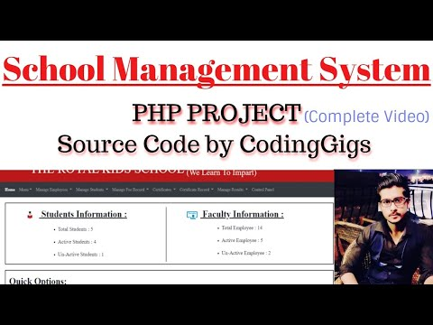 Make Complete Advance School Management System In PHP, MYSQL, HTML   PHP Project 2020   Coding Gigs