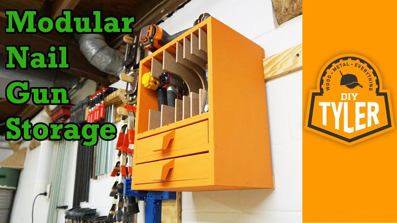 Modular Nail Gun Storage - YouTube