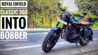 Royal Enfield Classic 350 Modified Into Bobber | By R.C.W