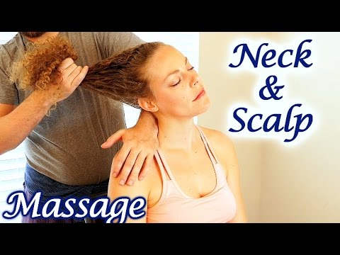 How to Massage Neck & Scalp for Upper Back Pain & Headaches, Relaxing Tutorial, HD Therapy Technique