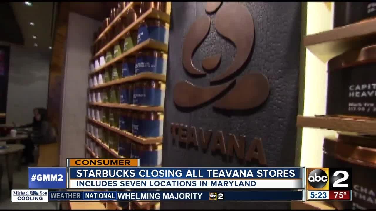 Starbucks to shutter all Teavana stores