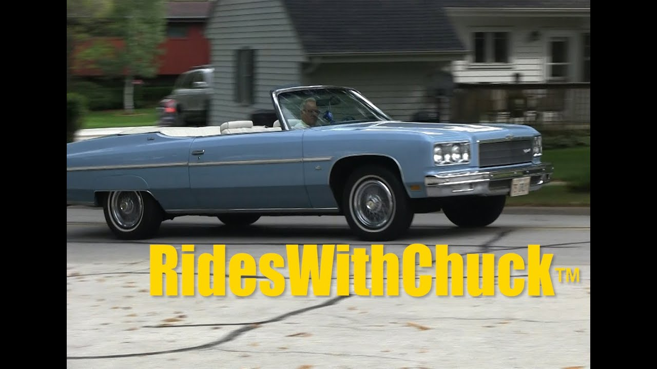 1975 Chevy Caprice Classic Convertible and YES, we go for a ride