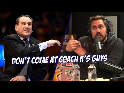 Coach K Does Not Like Sports Journalist Coming At His Players