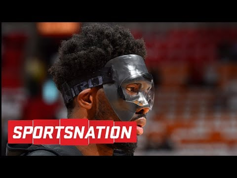 Amin Elhassan has no problem with Winslow trying to break Embiid's mask | SportsNation | ESPN