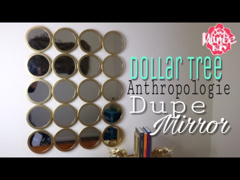 Dollar Tree DIY Wall Mirror | Anthropologie Dupe MirroR