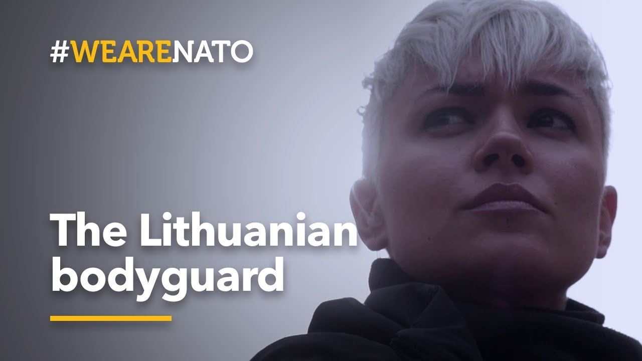 On the job with 🇱🇹Lithuanian bodyguard Simona - #WeAreNATO