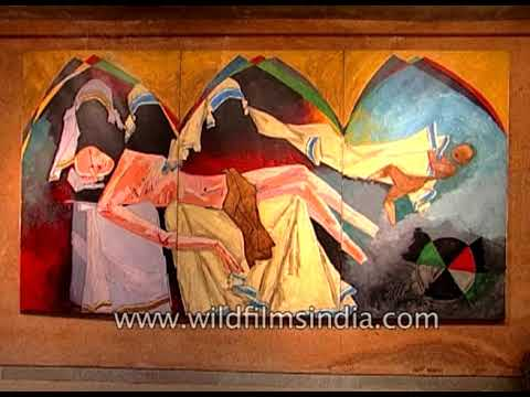 M F Husain painting exhibition in India