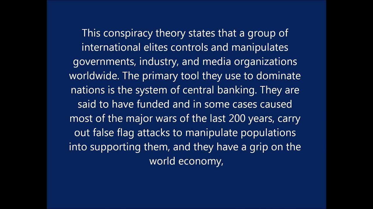 good conspiracy theories to write about