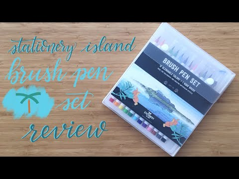 Review | Stationery Island Brush Pens