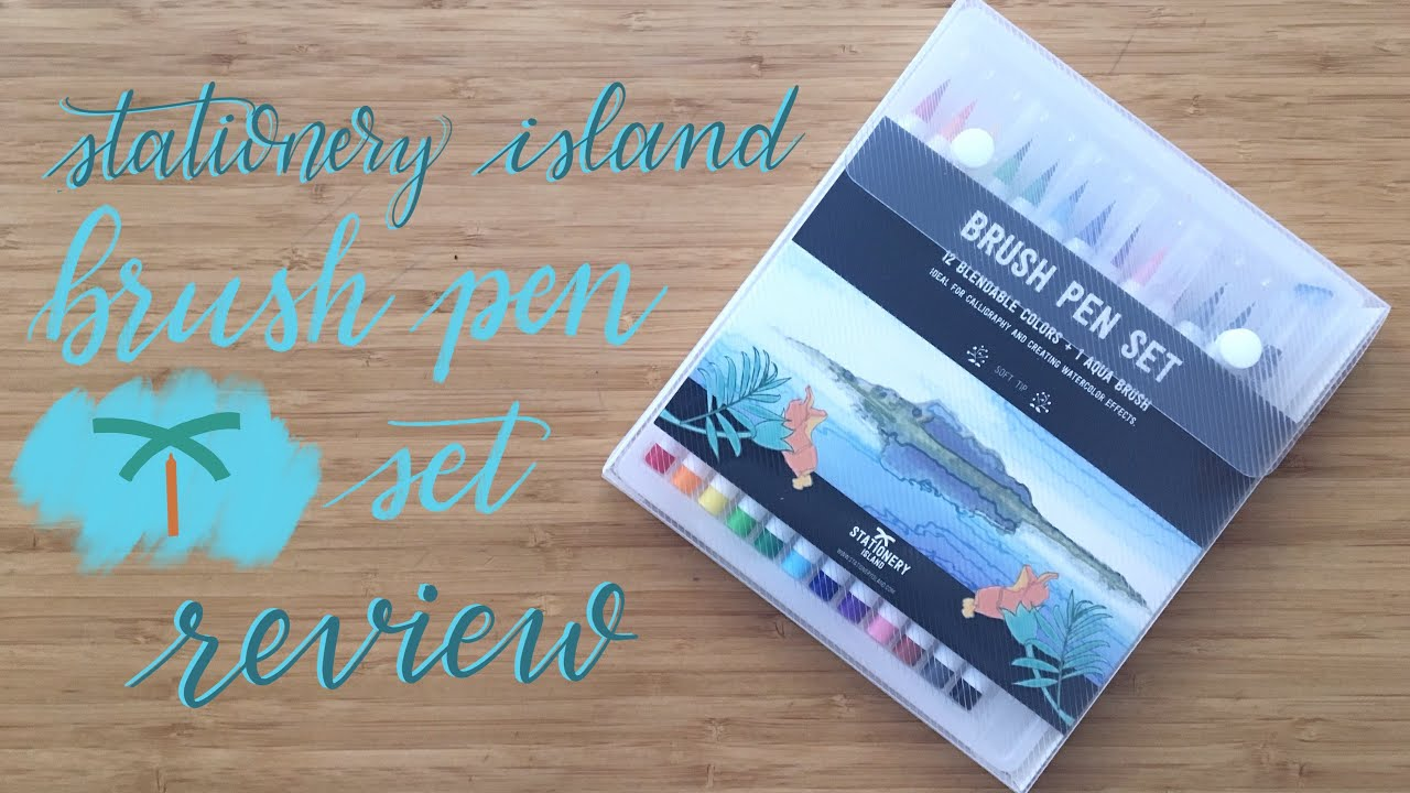Review stationery island brush pens youtube