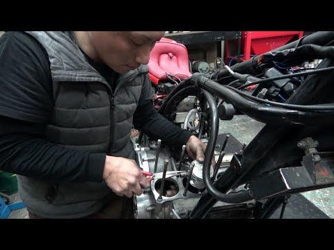 Z1 エンジンを組む kawasaki Z1 engine  overhaul