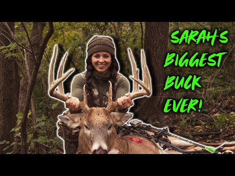 Sarah's BIGGEST BUCK EVER! Small Property Iowa Bow Kill | Bowmar Bowhunting |
