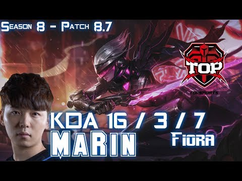 TOP MaRin FIORA vs SINGED Top - Patch 8.7 KR Ranked
