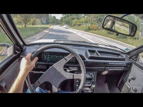 FSO Polonez Caro  | 4K POV Test Drive #282 Joe Black
