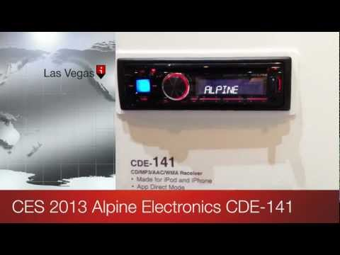 Alpine Electronics CDE-141 at CES 2013 Las Vegas Convention Center