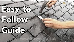 Slate Roof Repair - How to replace a slate & broken slates