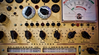 1950's Tube Tester!  Testing Diodes and Transistors