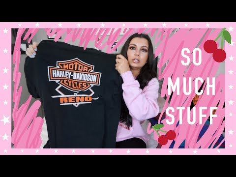 COME THRIFTING WITH ME TO GOODWILL OUTLETS (BINS) + THRIFT TRY ON HAUL ;)