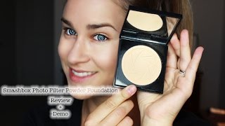 NEW!Smashbox Photo Filter Powder Foundation Review + Demo! | Beauty Banter