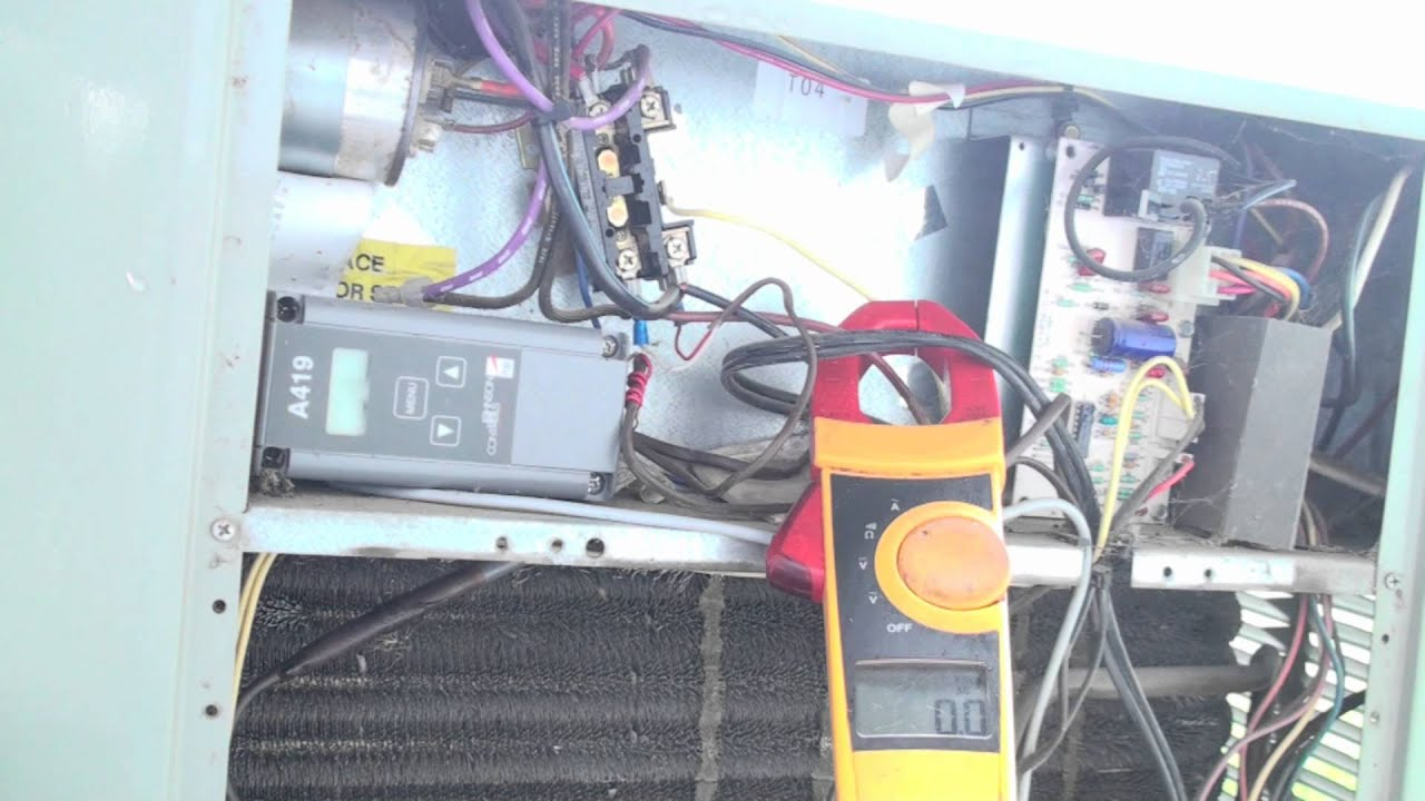 What is normal air conditioner amp draw - YouTube