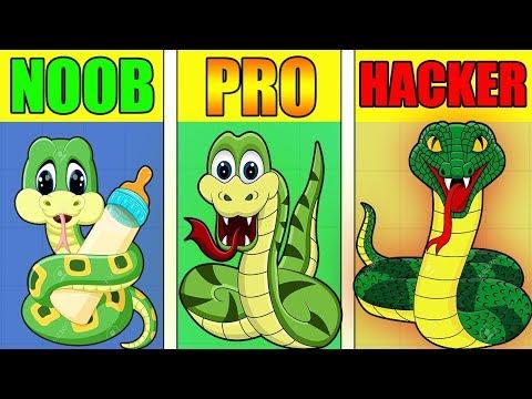 NOOB vs PRO vs HACKER - Little Big Snake Gameplay!