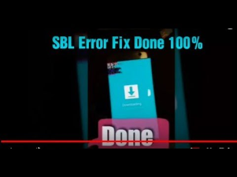 SBL Error On Samsung S7, S7Edge, S8, S8+, Note7, Note8 Solutions 100% Done  5 Minutes by Somkai Technical Entertainment
