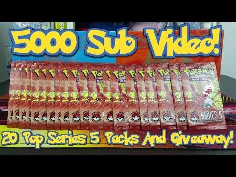 Opening 20 Pokemon POP Series 5 Packs! Gold Star Hunting For 5000 Subscribers With A Giveaway!