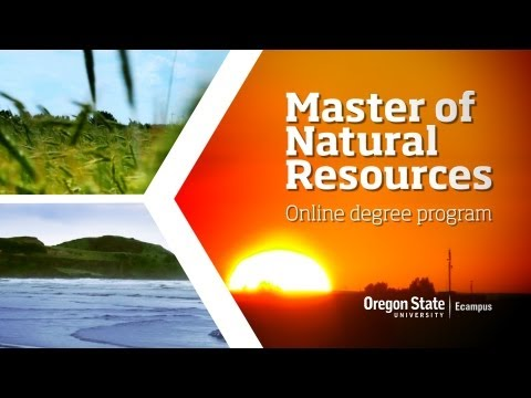 Master of Natural Resources  Online Degree Program