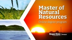 Master of Natural Resources -- Online Degree Program