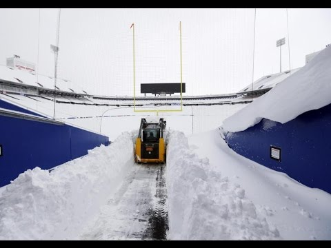 Jets vs Buffalo snow video | NFL uncertain if game can be played in snowbound Buffalo