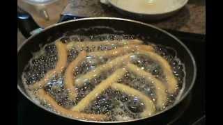 Fried Fritters (churros) -- banh