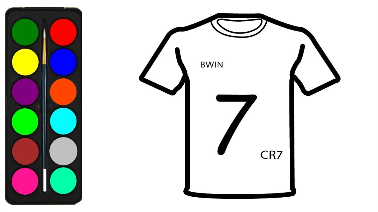 online store 9624e c1be4 CR7 Juventus Jersey Coloring Pages for Kids to Print - Cristiano Ronaldo  Drawing & Colours Pages