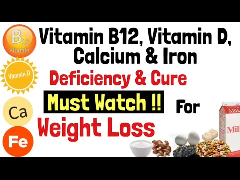 Vitamin B12, Vitamin D, Calcium & Iron Deficiency And Cure | Best Food Sources | Weight Loss