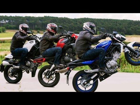 Einsteiger Nakedbikes | Suzuki Gladius, Ducati Monster 696, Kawasaki ER6N-| Vergleichstest 2013