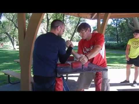 Minnesota Armwrestling Practice--Sept 7 2014 part 1