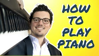 How to Play Piano:  From Beginner to First Song (Fast!)