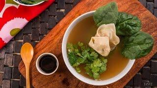 Sopa de Wonton Casera - Receta fácil y rápida de preparar
