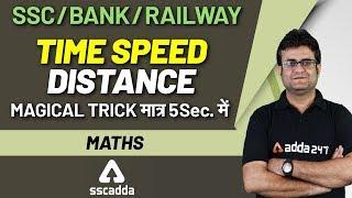 SSC CHSL Exam Preparation  | Maths for SSC CHSL 2019 | Time Speed & Distance Questions