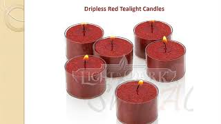 Online Dripless Red Tealight Candles Wholesale - Shopacandle